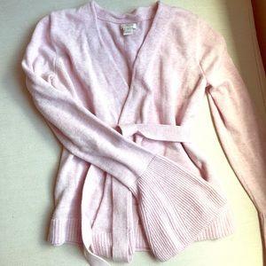 Light pink J. Crew wrap sweater - XS